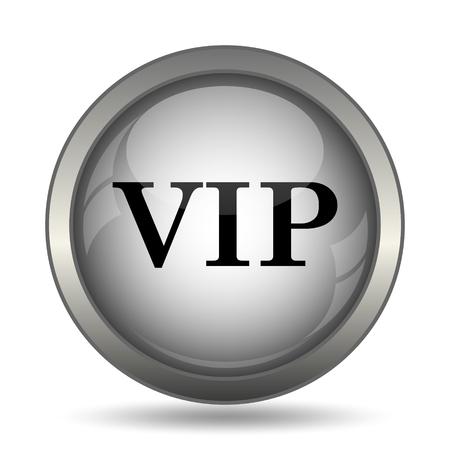privilege: VIP icon, black website button on white background. Stock Photo