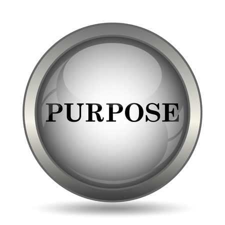 purpose: Purpose icon, black website button on white background.