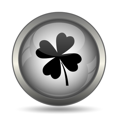 Clover icon, black website button on white background.