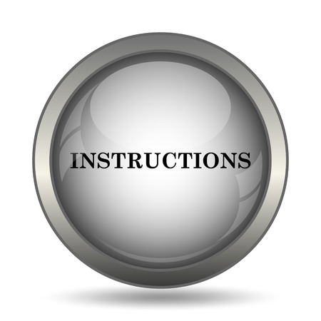 Instructions Icon Black Website Button On White Background Stock