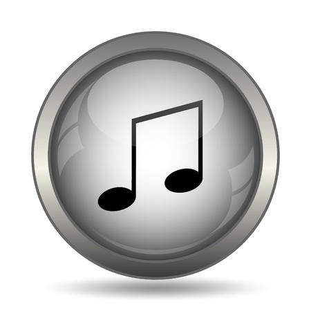 melodic: Music icon, black website button on white background.