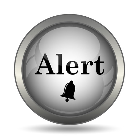 Alert icon, black website button on white background. Stock Photo