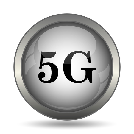 3g: 5G icon, black website button on white background.