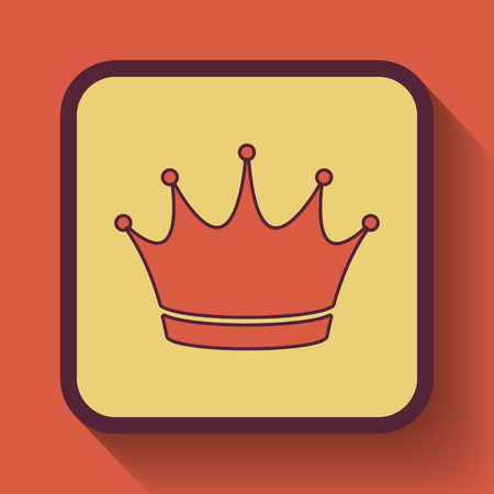 royal person: Crown icon, colored website button on orange background.