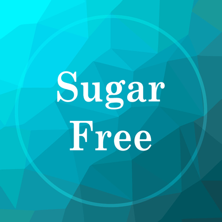 Sugar free icon. Sugar free website button on blue low poly background. Reklamní fotografie - 69298894