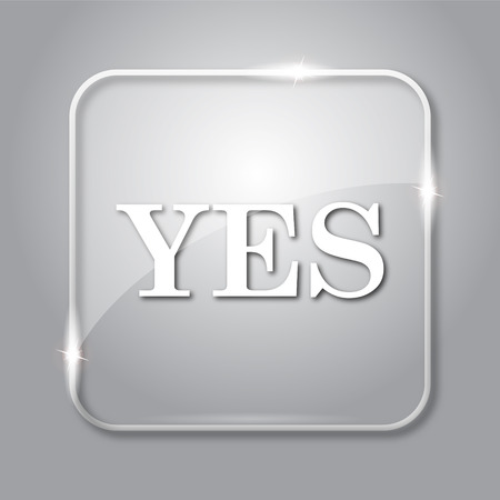 proceed: Yes icon. Transparent internet button on grey background.