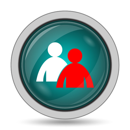 work related: Mentoring icon, website button on white background.