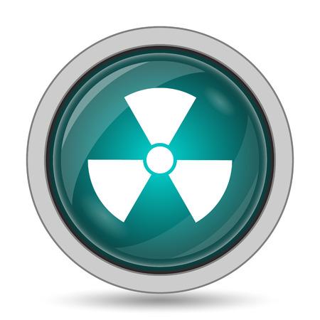 Radiation icon, website button on white background. Stock Photo
