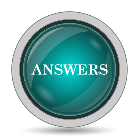 truthfulness: Answers icon, website button on white background. Stock Photo