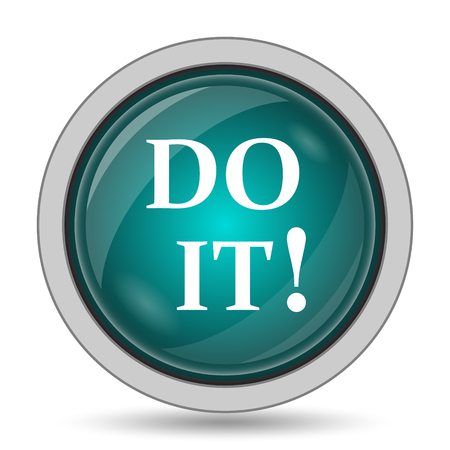 Do it icon, website button on white background.
