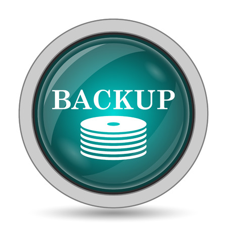 recover: Back-up icon, website button on white background. Stock Photo