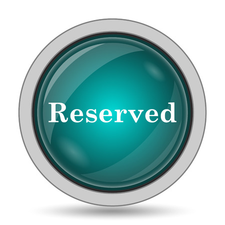 reservations: Reserved icon, website button on white background.