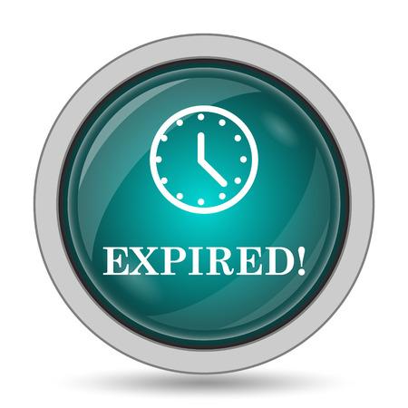expired: Expired icon, website button on white background. Stock Photo