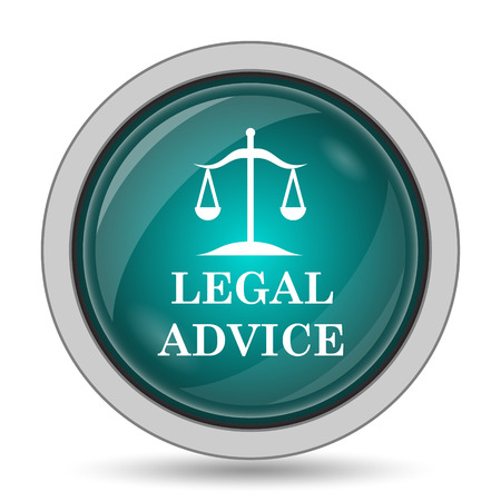 judiciary: Legal advice icon, website button on white background. Stock Photo