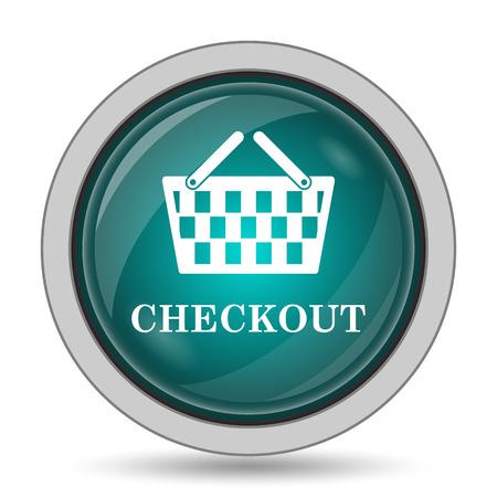 checkout: Checkout icon, website button on white background.