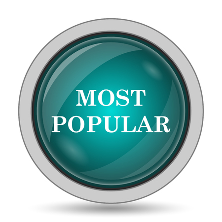 most popular: Most popular icon, website button on white background. Stock Photo