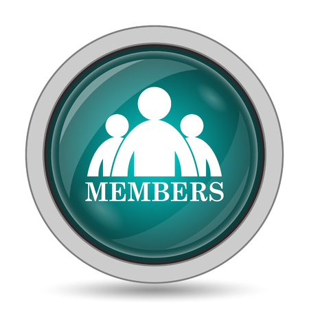 fellowship: Members icon, website button on white background.