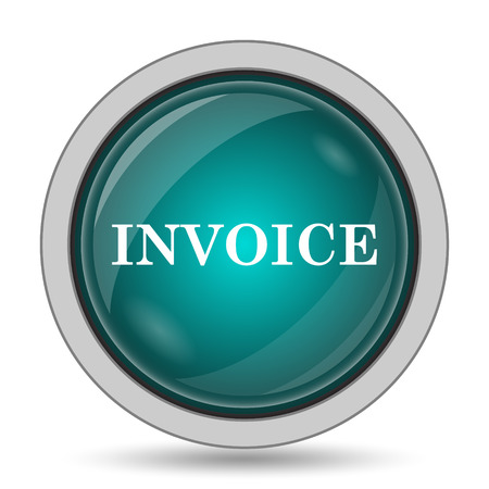 tax office: Invoice icon, website button on white background. Stock Photo