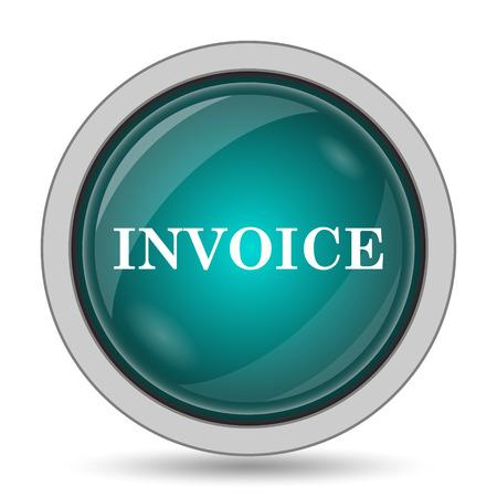 payable: Invoice icon, website button on white background. Stock Photo
