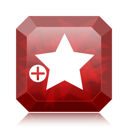 preference: Add to favorites icon, red website button on white background.