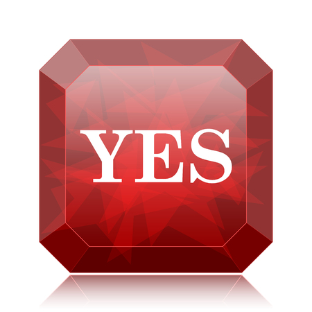 proceed: Yes icon, red website button on white background.
