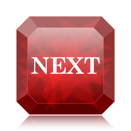 Next icon, red website button on white background. Reklamní fotografie