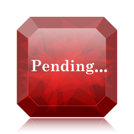 reviewed: Pending icon, red website button on white background.