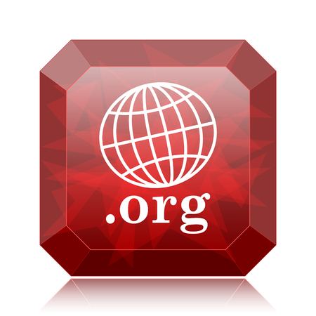 org: .org icon, red website button on white background.