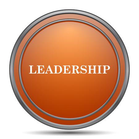 superintendence: Leadership icon. Orange internet button on white background. Stock Photo
