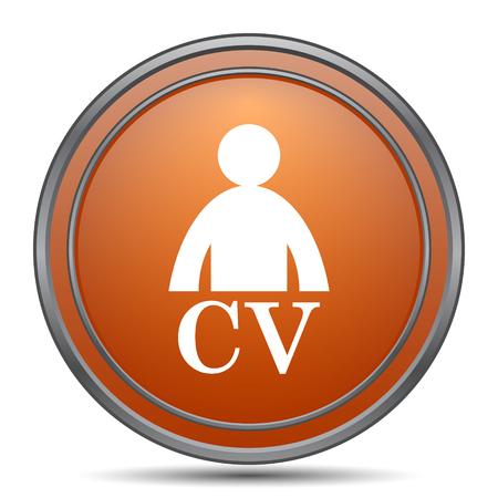 unoccupied: CV icon. Orange internet button on white background.
