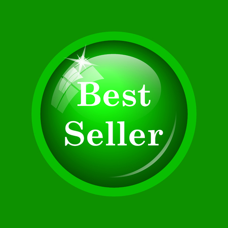 Best seller icon. Internet button on green background. Stock Photo
