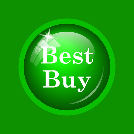 buy now: Best buy icon. Internet button on green background.