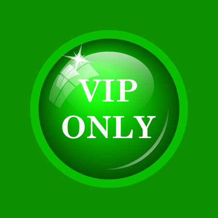 privilege: VIP only icon. Internet button on green background.