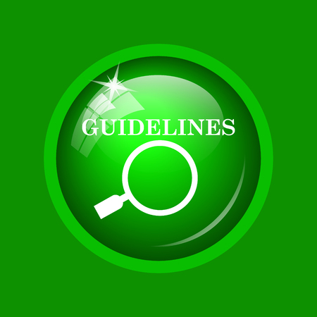 specification: Guidelines icon. Internet button on green background.