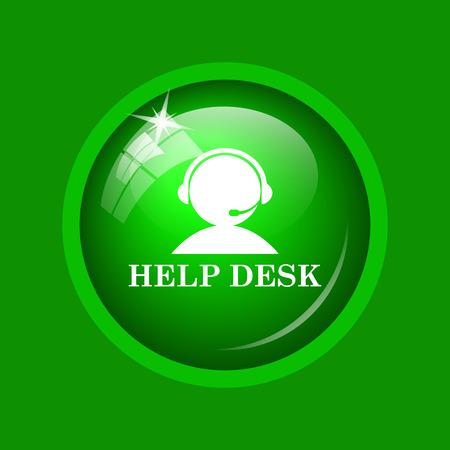 helpdesk: Helpdesk icon. Internet button on green background.