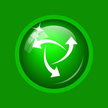 Change icon. Internet button on green background.