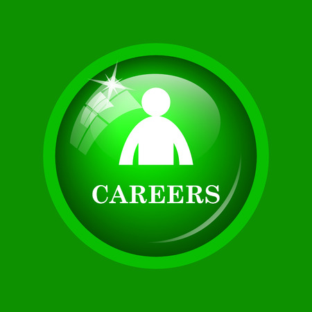career entry: Careers icon. Internet button on green background.