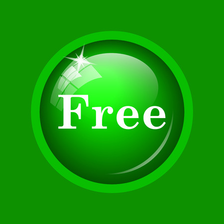 gratuity: Free icon. Internet button on green background.