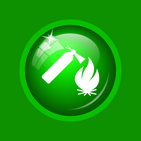 flammability: Fire icon. Internet button on green background.
