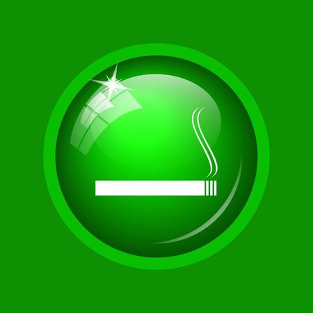 salud publica: Cigarette icon. Internet button on green background.