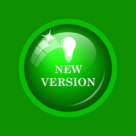 New version icon. Internet button on green background.