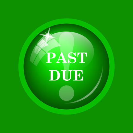 expired: Past due icon. Internet button on green background.