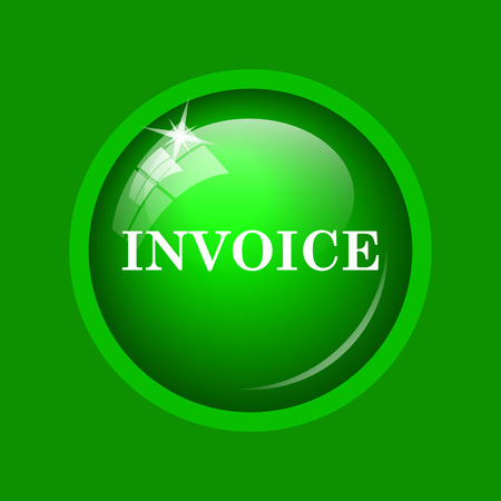 accounts payable: Invoice icon. Internet button on green background.