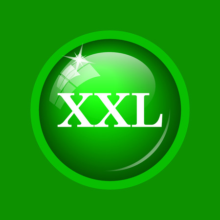 specification: XXL  icon. Internet button on green background.