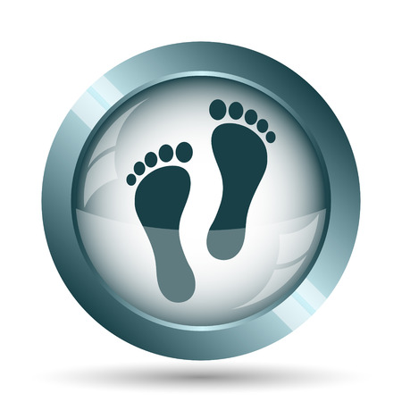 massage symbol: Foot print icon. Internet button on white background.