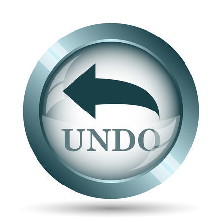 Undo icon. Internet button on white background. Stock Photo