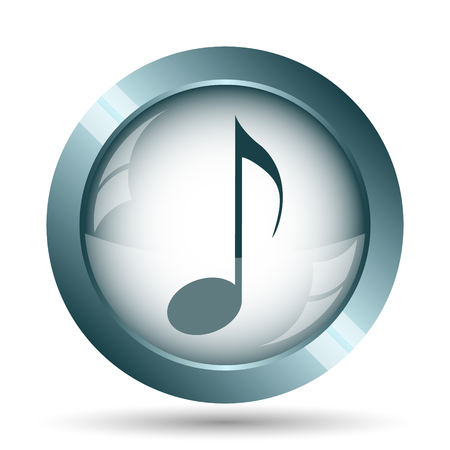 volume control: Musical note icon. Internet button on white background.