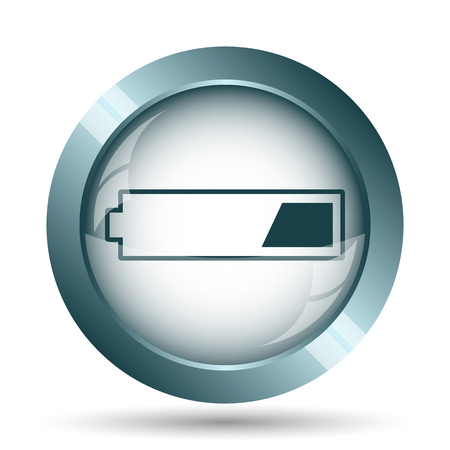 1 third charged battery icon. Internet button on white background.