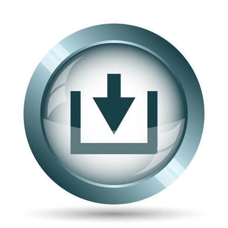 Download icon. Internet button on white background.