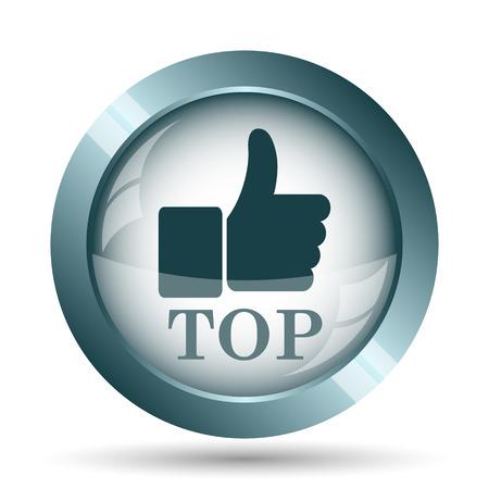 Top icon. Internet button on white background.